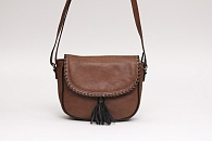 Cумка Kohl's ili Whipstitch Leather Saddle Bag